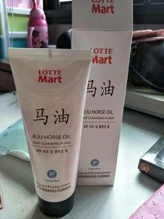 Jeju horse oil deep cleansing foam