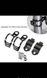 Universal spot/fog light clamps mount bracket