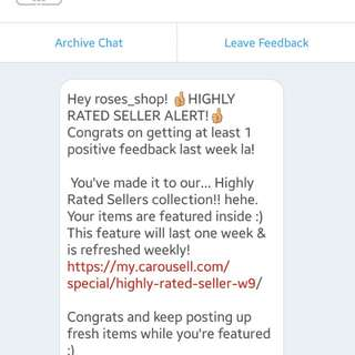 High rated seller