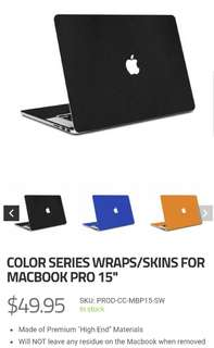 "SlickWraps MacBook Pro Decal 15"" Imported"