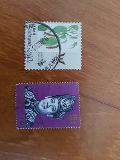 Malaysia 15 cents and sabah 10 cents stamp