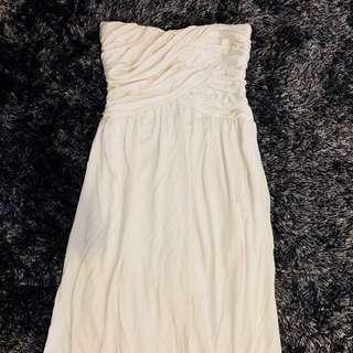 Bebe Formal White Dress