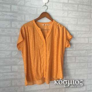 POLKA SHIRT ORANGE UNIQLO