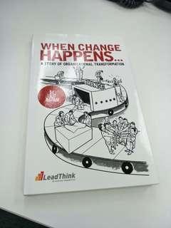 When change happens. Change management book