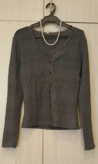 Grey Knitted cover up/cardigan