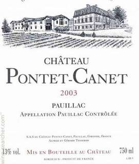 2003 Ch. Pontet Canet (RP 95)