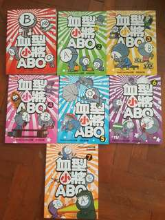 血型小將ABO (RealCrazyMan) Blood Type Comic (Book 1-7)