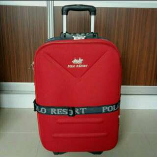 $22 BEST DEAL!! Polo Resort Red Luggage Bag Handle