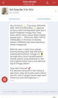 Come Shop @ThriftChic Penjual Paling Nge-TOP. Thank you Carousell and ThriftChic buyers
