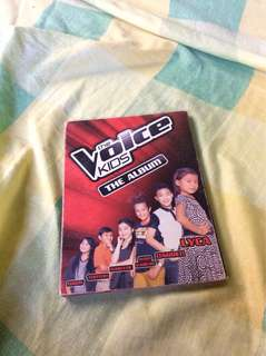 The voice kids album with darren's signature