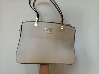 coach bag white