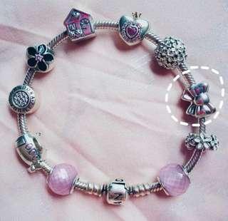 (ORI) Pandora Ribbon Charm