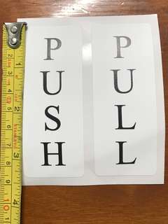 Push & Pull sticker