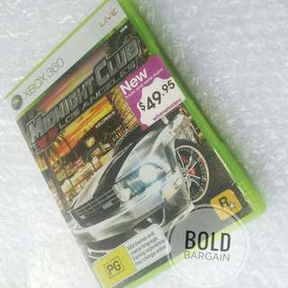 Authentic Midnight Club Los Angeles Game Disc for Xbox 360