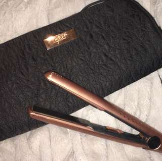 GHD Copper Luxe MK5 V Gold Classic Hair Straightener Gift Set