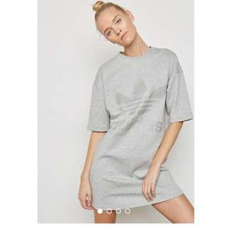 INSTOCK Adidas Women Originals Trefoil Grey Dress