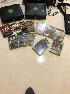 Xbox Original 2 unit with games and accessories