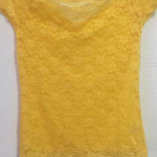 Lace Yellow Top