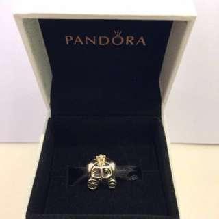 Pandora 2tone 馬車 南瓜車 charm