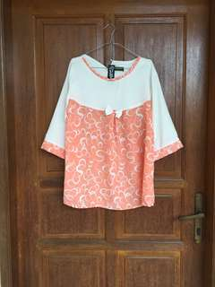 Anabele peach blouse