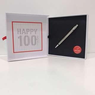 🚚 瑞士CARAN d`ACHE 卡達 100周年 限量版 艾可朵翎紋 原子筆