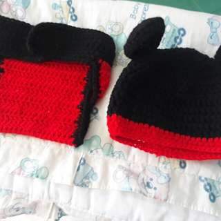 Crochet Baby Beanie and Diaper Cover