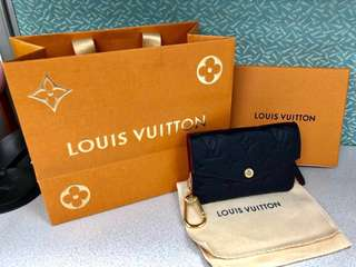 Louis Vuitton LV Monogram Leather Coins bag + Key Pouch