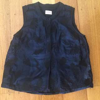 GORMAN navy top