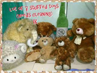 Lot of 7 Assorted stuffed toys