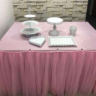 [Rental] TuTu Skirting and Dessert Stands