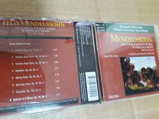Mendelssohn selected songs without words /Scherzo in Em