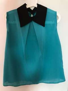 Teal Collared Blouse