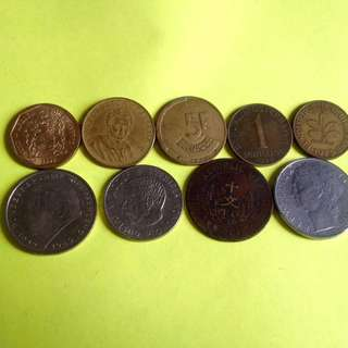 Various country vintage coin