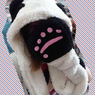 🚚 Ungo 熊貓 蘿莉塔 連手套式帽子