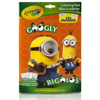 Crayola Googly Eye Minions Coloring Book