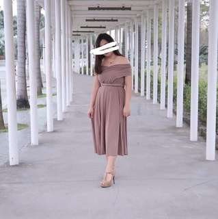 Infinity dress ( nude brown )