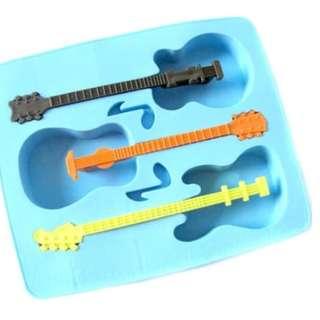 Cetakan Es / Jelly / puding Coklat Bentuk Gitar kreasi dapur