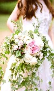 Cascading Bridal Bouquet - Fresh Flowers