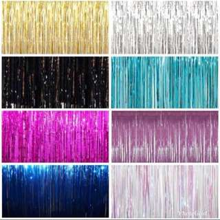 ‼️ SALE ‼️Assorted Metallic Foil Curtains
