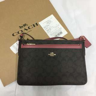 Coach Crossbody Bag with pop up Pouch