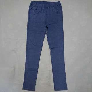 Comfy Stretch Pants Vintage Blue Look