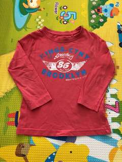 Cotton On Kids Long Sleeve Red Tee 3