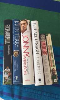 Sports biographies 6 for $12
