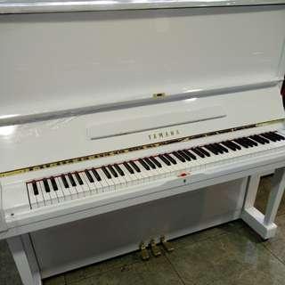 山葉Yamaha二手中古鋼琴白色鋼琴就是美