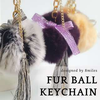 Golden Fur Ball Keychain Customized Gift