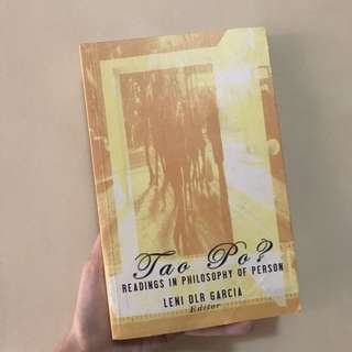 Tao Po: Readings in Philosophy of Person edited by Leni Garcia