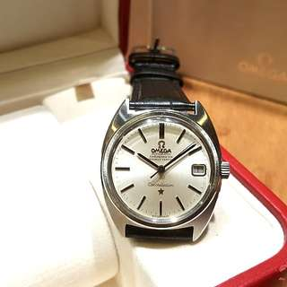 Vintage Omega C Shaped Constellation Silver Dress Watch