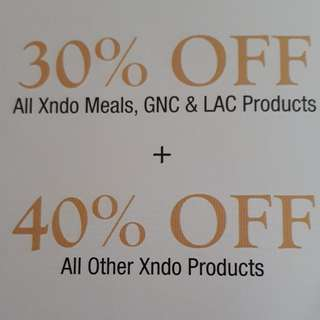All Xndo meal product, GNC & LAC