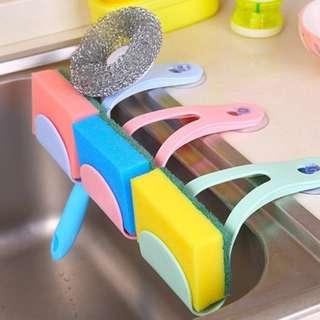 Jepit Tempat Penyimpanan Spon Spons Sponge Wastafel Dapur Rack