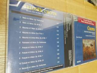 Chopin selected works for piano bk.1